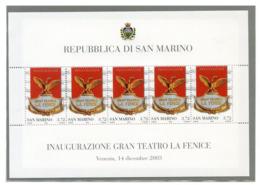SAN MARINO ANNO 2003 -  FOGLIETTO - LA FENICE N°73  MNH** - Blocs-feuillets