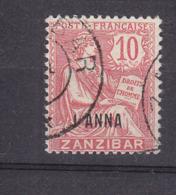 ZANZIBAR 48 MOUCHON OBL - Zanzibar (1894-1904)