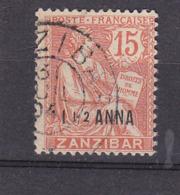 ZANZIBAR 49 MOUCHON OBL - Zanzibar (1894-1904)