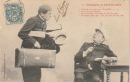 Illustrateur - BERGERET : Voyageur Et Chef De Gare - Bergeret