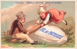 Chromo Pub Magasin Fil Au Patriote Force Regularité Souplesse , Au Bon Marché J. Marc 57 Rue Royale Mantes - Autres