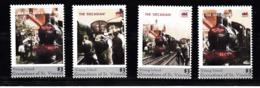 Trein, Train, Locomotive, Eisenbahn: Young Island 4 Postzegels Van The Decadian - Treinen