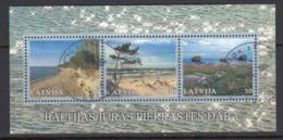 Latvia 2001. Baltic Coastal Landscapes. Bl. Used, Gest.. - Latvia