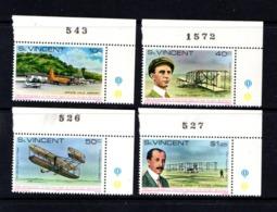SAINT  VINCENT     1978    75th  Anniv  Of  Powered  Flight    Set  Of  4      MNH - St.Vincent (...-1979)