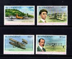 SAINT  VINCENT     1978    75th  Anniv  Of  Powered  Flight    Specimen  Overprint    Set  Of  4      MNH - St.Vincent (...-1979)