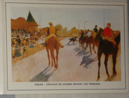 Petit Calendrier De Poche 1973 Peinture Degas Chevaux De Course Devant Les Tribunes - Reignac Etauliers - Calendriers