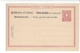 24041 - Postkarte Mit Antwort Carte Postale Avec Réponse Payée 10 Pf Rouge Neuve - Deutschland