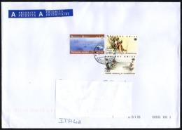 NATIONS UNIES - SUISSE 2014 - ENVELOPPE VOYAGE - JOURNEE MONDIALE DE L'ALIMENTATION / PATRIMOINE MONDIAL: YELLOWSTONE - Office De Genève