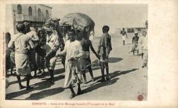 CPA Djibouti Scène De Mariage Somalis Transport Solennel De La Dot Afrique - Gibuti
