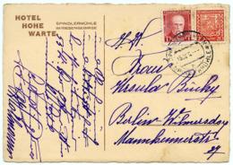 CZECH REPUBLIC : SPINDLERMUHLE - HOTEL HOHE WARTE, 1933 (10 X 15cms Approx.) - Tchéquie