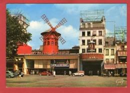 PARIS - Montmartre: La Place Blanche Et Le Moulin Rouge -  - Citroën 2CV  Camionette  UNIMEL  - - Francia