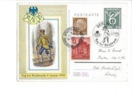 24050 - Tag Der Briefmarke Berlin 07.01.1940 + Stuttgart 20.02.1940 Pour La Suisse - Postwaardestukken