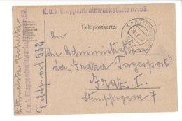 24045 - Feldpostkarte Etappentrainwerkstätte N°53 K.u.K Feldpostamt 532 30.05.1918 - Occupation 1914-18