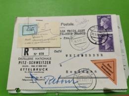 Distillerie Nationale, Pitz-Schweitzer. Ettelbruck. Remboursement - Ganzsachen