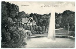 STRASSBURG : PARTIE IN DER ORANGERIE - BLAUEM ZENSURSTEMPEL - GEPRUFT U. ZU BEFORDERN, 1916 - Covers & Documents