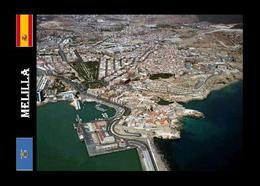 Melilla City Port Aerial View New Postcard - Melilla