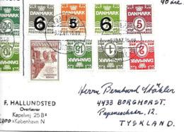Vignette Sur Lettre De Kobenhavn 1967, Cover, Brief, Label Voir 2 Scan - Danimarca