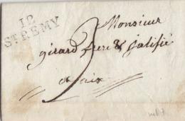 ♦ - FRANCE: LSC -- OBLITERATION LINÉAIRE + RONDE 12ST REMY - 1°JANVIER 1823 - RECTO/VERSO - 1801-1848: Voorlopers XIX