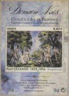 Etiquette De Vin Label Coteaux D'Aix-en-Provence Domaine Naïs ROGNES 13840 Adhésif Auto-collant  [GR] - Rosé (Schillerwein)