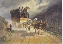 AK-div.32- 61588 - Schweiz -Charles Humbert  - Gemälde Simmentalpost - Postkutsche - Paintings