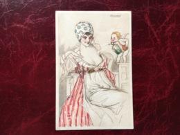 """Cpa-""""femme-robe De Chambre-ange Vaporisant Du Parfum""""-Achille Lucien Mauzan (my Ref ALM2) - Mauzan, L.A."""