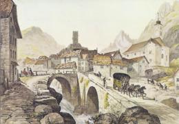 AK-div.32- 61588 - Schweiz - George Barnard   - Gemälde Hospenthal  - Gotthardpost - Paintings