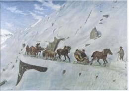 AK-div.32- 61588 - Schweiz - Jules Jacques Jacot -Guillarmod  - Gemälde Gotthard Schlittenpost - Paintings