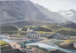 AK-div.32- 61588 - Schweiz - Johann Jakob Meyer   - Gemälde  San Bernadino Villaggio - Postkutsche - Paintings