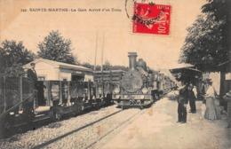 CPA SAINTE-MARTHE - La Gare Arrivé D'un Train - Quartiers Nord, Le Merlan, Saint Antoine