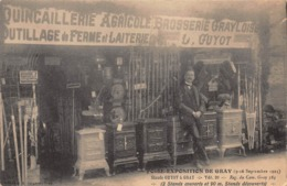 CPA FOIRE-EXPOSITION DE GRAY ( 9-16 Septembre 1923 ) - Stands GUYOT à GRAY - Gray