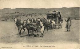 ALGERIE. SCENES ET TYPES. UNE DILIGENCE DANS LE SUD - Argelia