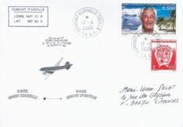 TAAF - Dumont D'Urville-T.Adélie: Lettre Avec Timbres N°417 PE Victor Et 324 Armoiries - 17/11/2006 - Terres Australes Et Antarctiques Françaises (TAAF)