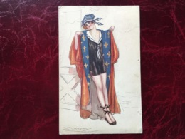 """Cpa-""""femme-manteau Robe Ouvert""""-Achille Lucien Mauzan (my Ref ALM9) - Mauzan, L.A."""