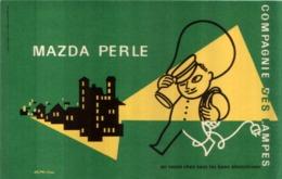 Ancien Buvard Publicitaire LAMPE MAZDA PERLE - Accumulators