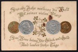 MÜNZEN - MONNAIES / 1901 GEPRÄGTE AK (ref LE1545) - Munten (afbeeldingen)