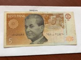 Estonia 5 Krooni Banknote 1991 - Estland