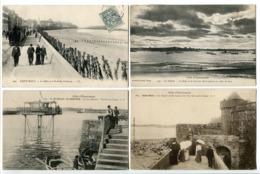 6 CP ST MALO Sillon Arrêt Tramway / Rade Terreneuviers Lune / Pont Roulant / Plage Tour Femmes Ombrelles / Rue Vincent / - Saint Malo