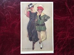 """Cpa-""""2 Amies De Sortie En Route Vers...""""-Achille Lucien Mauzan (my Ref ALM19) - Mauzan, L.A."""