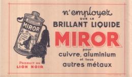 Ancien Buvard Publicitaire BRILLANT MIROR - Wash & Clean
