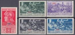 SIMI, ISOLE ITALIANE DELL'EGEO - 1930 - Serie Completa Di 5 Valori Nuovi MH/MNH: Unificato 12/16. - Egeo (Simi)
