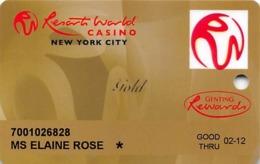 Resorts World Casino - New York City, NY - Classic Slot Card - Logo Below Gold - Casino Cards