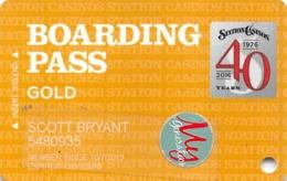 Station Casinos Las Vegas, NV - Slot Card Copyright 2016 - Cartes De Casino