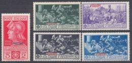 PISCOPI, ISOLE ITALIANE DELL'EGEO - 1930 - Serie Completa Di 5 Valori Nuovi MH: Unificato 12/16. - Egeo (Piscopi)