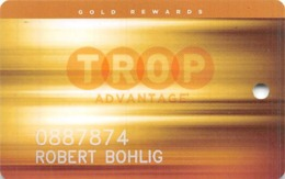 Tropicana Casino - Atlantic City NJ - Slot Card With C-1582Q Over Mag Stripe - Casino Cards