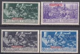 SCARPANTO, ISOLE ITALIANE DELL'EGEO- 1930 - Lotto Di 4 Valori Nuovi MH/MNH:Unificato 12/15. - Ägäis (Scarpanto)