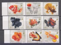 Singapore 2019 Definitives Goldfishes Goldfish Fish 9v MNH - Fische