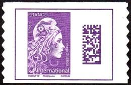 France Autoadhésif N° 1656 ** Marianne L'Engagée - Datamatrix International PRO (verso Blanc) - Francia