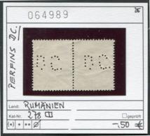 Rumänien - Roumanie - Romina - Rominia - Michel 278 Paar / Pair Mit Perfins -  Oo Oblit. Used Gebruikt - - Usati