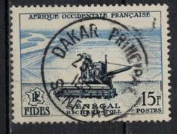 A O F          N°  YVERT    58   ( 3 )   OBLITERE       ( Ob   5/52 ) - A.O.F. (1934-1959)