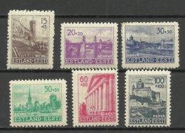 Estland Estonia 1941 German Occupation Wiederaufbau Michel 4 - 9 * - Estonia